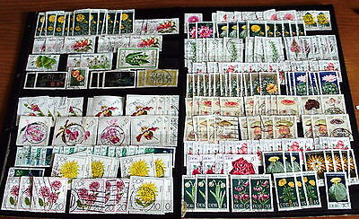 """200+ German Ddr Stamps, Good Selection Of """"flowers"""" Issues, Thematic Interest."""
