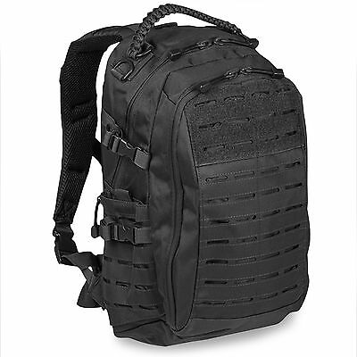 Mil-Tec Small MOLLE Tactical Police Security Mission Pack Rucksack Bag 20L Black
