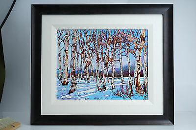 "(E) Original FIne Art Painting by DAVID LANGEVIN ""Giant Weeds"" Canadian Artist"