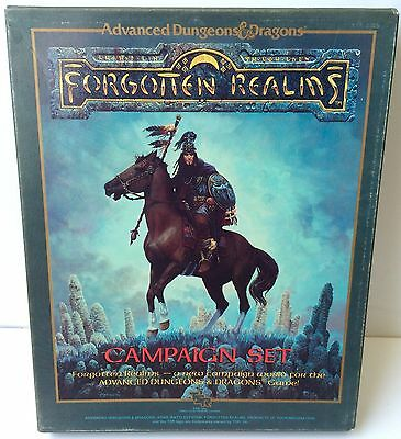 AD&D Dungeons & Dragons Forgotten Realms Campaign Set TSR 1301 In Box COMPLETE!