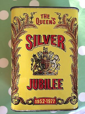 Vintage Colman's Mustard Tin Commemorating The Queen's Silver Jubilee 1952-1977