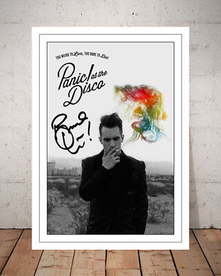 Brendon Urie Panic At The Disco Flyer Autographed Signed Photo Print