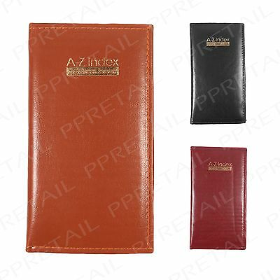 Slim A-Z Index +EXECUTIVE PADDED ADDRESS BOOK+ Organiser Phone Assorted Colour