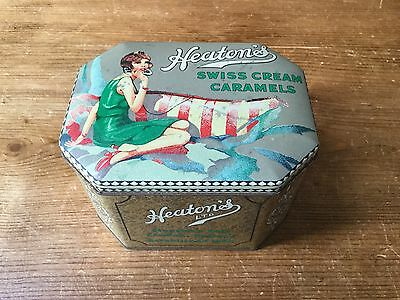 Lovely Vintage Heaton's  Swiss  Cream  Caramels Tin