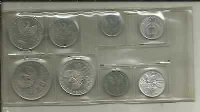 Greece (Kingdom), 1973, 8-coin set  in sealed plastic wrapper of issue