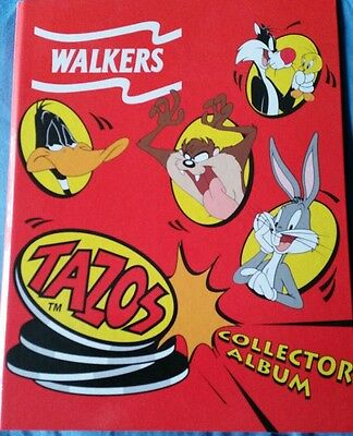 Walkers Looney Tunes Complete 50 Tazo Album and Spares