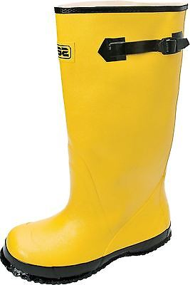 "Servus by Honeywell A380/10 18"" Rubber Overboots, Yellow, Men's Size 10"