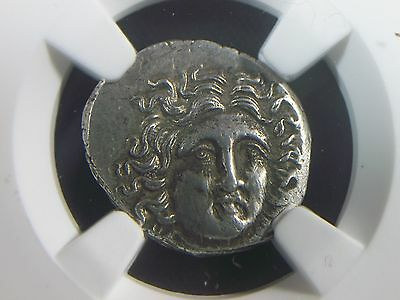 Greek Silver Drachm of King Perseus 179-168 BC  NGC Ch AU   9006