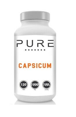 Pure Capsicum Tablets 1000mg Strong Fat Burner Weight Loss Diet Pills Supplement