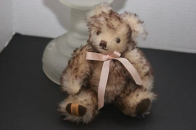 VTG 7 IN. MERRYTHOUGHT BROWN TIPPED MOHAIR LIMITED EDITION SIGNED BEAR 1980's