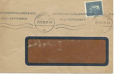 Machine Cancel Of Stockholm Exhibition Sweden 1929 Cover 1397