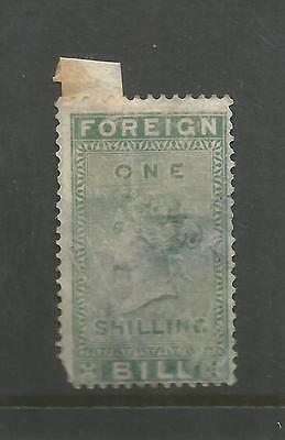 Queen Victoria One Shilling Green Foreign Bill Ref 292