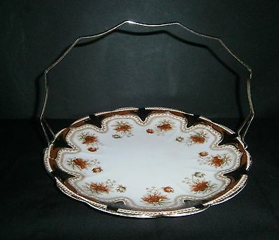 MELBA Ware Antique Floral Cake Plate Stand