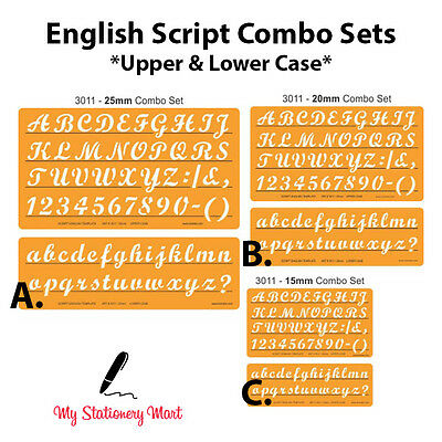 Lettering Stencils Alphabet Number Template Craft Shapes Drawing English Stencil