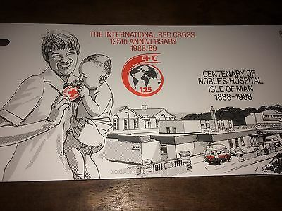 Isle Of Man Post Centenary Of Nobles Hospital 1888-1987 Stamp Red Cross Mint