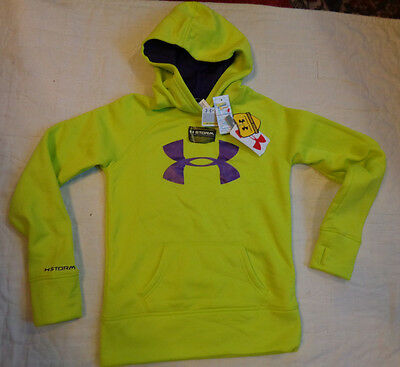 Nwt Under Armour Storm Cold Gear,upf 50+ Fleece,hood Sweaters,m Girls,thumb Hole