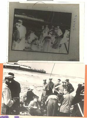 1952 Press Negative France S.S. CHAMPOLLION Wrecked Beirut Lebanon