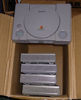 Lot of 5 PS1/PlayStation 1 Consoles for Parts or Repair
