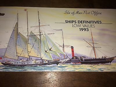 Isle Of Man Post Office Ships Definitives Low Values 4 Jan 1993 Mint Condition