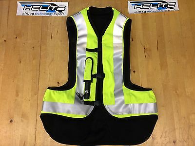 Helite Airbag Motorcycle Airnest Airbag Vest Hi Viz Yellow Sz L Large Marked