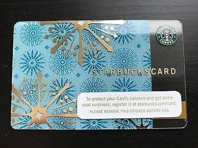 STARBUCKS Card 2006 Christmas Shimmering Snowflakes - Free Shipping