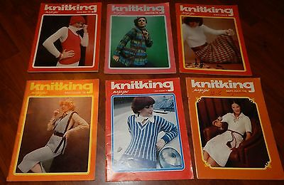 Lot Of 6 Knitking Magazines 1975 & 1976 Vol 12 No 1 2 3 4 5 & 6 Knitting Vintage