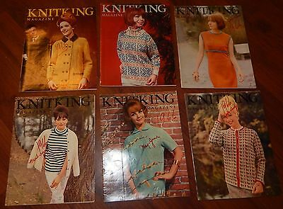 Lot Of 6 Knitking Magazines 1965 & 1966 Vol 2 No 1 2 3 4 5 & 6 Knitting Vintage