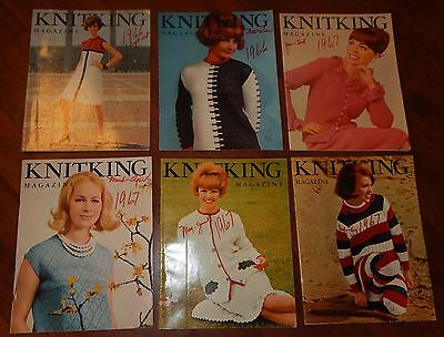 Lot Of 6 Knitking Magazines 1966 & 1967 Vol 3 No 1 2 3 4 5 & 6 Knitting Vintage