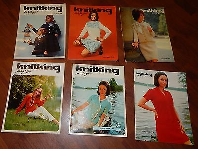 Lot Of 6 Knitking Magazines 1970 & 1971 Vol 7 No 1 2 3 4 5 & 6 Knitting Vintage