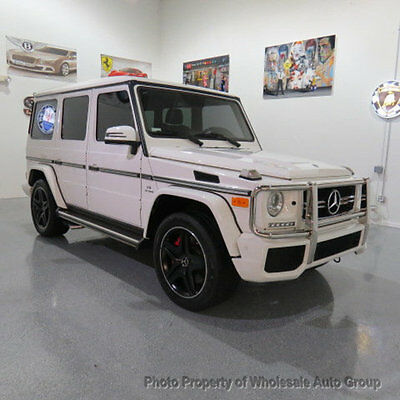 2014 Mercedes-Benz G-Class 4MATIC 4dr G63 AMG ONE OWNER CARFAX CERTIFIED !! FACTORY WARRANTY !! BEST COLOR COMBO !