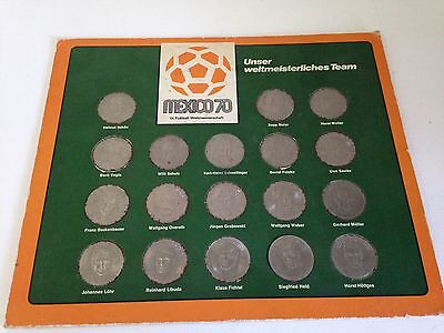 Shell Mexico 1970 World Cup Coin FULL Set from Germany *RARE*