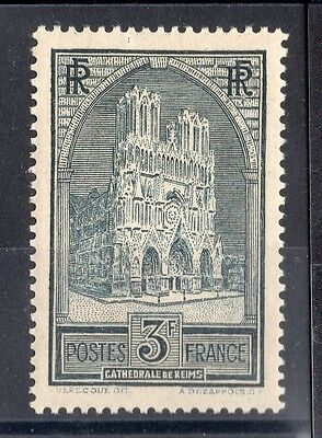 """FRANCE: TIMBRE YTN°259 """" CATHEDRALE DE REIMS """" NEUF* Cote: 77,00€"""
