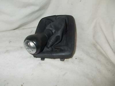 Peugeot 206 & Others Clip-On 5 Speed Chrome & Leather Gearknob & Leather Gaitor
