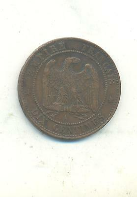 Very Nice Rare.france.10.centimes.1863.mint.a..very Collectable.k.86