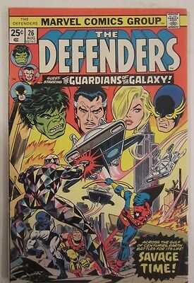 The Defenders #26 (Aug 1975, Marvel) Guardians of the Galaxy Fine+