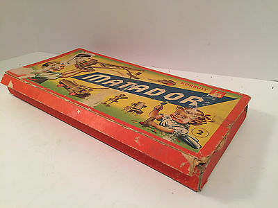 Vintage Korbuly Matador Wooden Erector Set - Made In Austria Nice!
