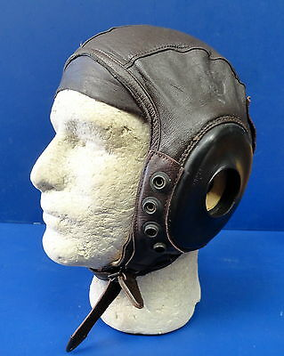 Army Air Forces Type A-11 Leather Flying Helmet-Excellent