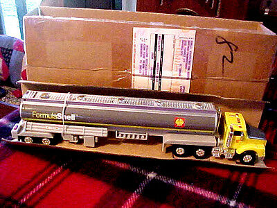 "Vintage ""FORMULA SHELL"" GAS TANKER TRUCK, MINT IN **Unoped BOX,14"",PROMOTIONAL."