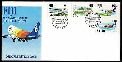 Fiji 1991 FDC 40th Anniversary of Air Pacific - Aviation Theme