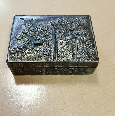 Vintage Chinese Or Japanese Brass  Box