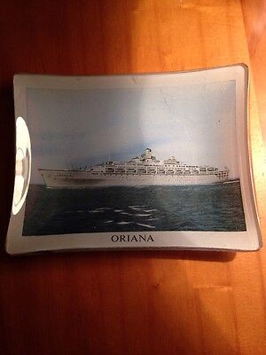 Oriana Vintage Collectable Glass Pin Dish Shipping Line