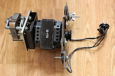 Conn Theater Organ Speaker Motor complete w/ Belt and Pulleys Leslie