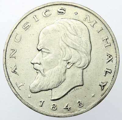 1948 Hungary 20 Forint ~ KM#539 1848 Revolution Centenary ~ Silver (Crown Size)