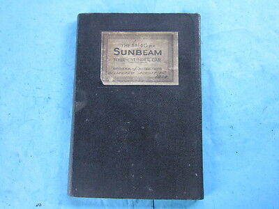 Vintage car SUNBEAM 1440 handbook, 1924