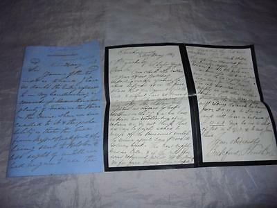 2 1869 Cornish Tin Mining Letters - Returned Mine Fuses To Bickford Smith Co #1