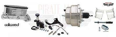 """Wilwood Chrome 8"""" Dual Pwr Brake Booster / Master Cylinder Assembly- 260-8555-P"""