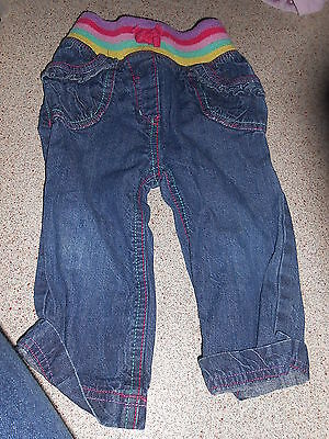 Next Baby Girl 12-18 Months Blue Jeans (Ex Cond)