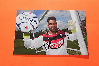 Wes Foderingham (Rangers) Signed Photo Paper