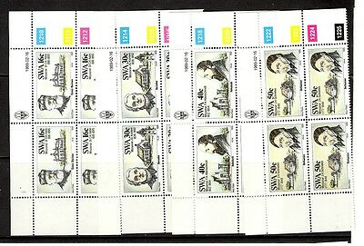 South West Africa  1989 Missionaries. Blocks of 4 MNH