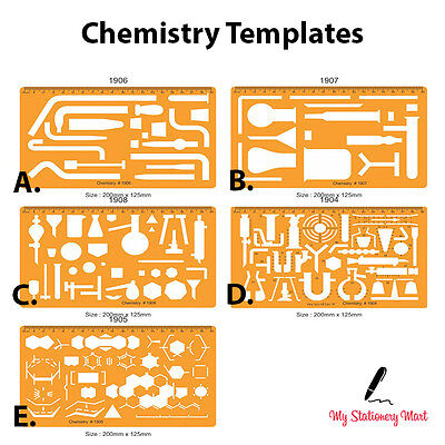 Chemistry Lab Chemical Engineering Symbols Drawing Drafting Template Stencil